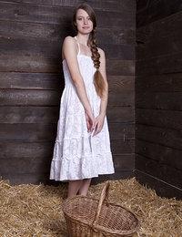 Sweet peasant teen girl