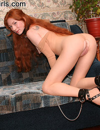 Nasty redhead shares a cock with a blonde